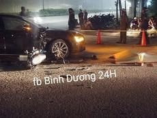 Bình Dương: Đâm ngang sườn xe sang Audi, nam thanh niên đi xe máy tử vong tại chỗ