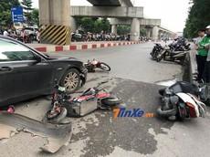 BMW 7-Series gây tai nạn liên hoàn cho 5 xe tại Hà Nội