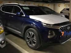 Bất ngờ bắt gặp Hyundai Santa Fe 2019 trong một hầm đỗ xe tại Hà Nội