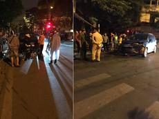 Hà Nội: Xe Audi của cựu thủ môn Dương Hồng Sơn va chạm với ô tô Ford của diễn viên Phạm Anh Tuấn