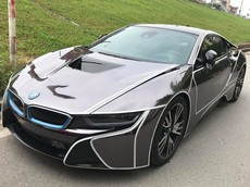 BMW i8 thay áo như siêu xe Lamborghini Aventador mui trần của doanh nhân tại Hà Nội