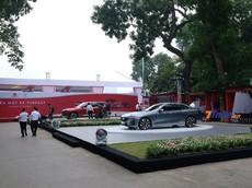 Ngắm trước dàn xe VinFast trưng bày trong Công viên Thống Nhất trước giờ ra mắt vào chiều nay