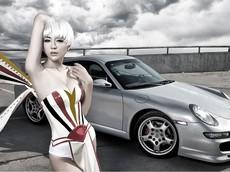 Người mẫu Tiểu Hi lộ ngực đầy, chân dài cùng với Porsche 911 Carrera 4S