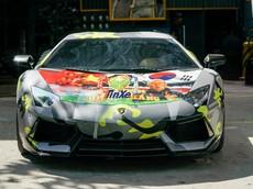 """Lamborghini Aventador độ """"khủng"""" tiếp tục được chủ nhân lên băng rôn cổ vũ tuyển Việt Nam"""