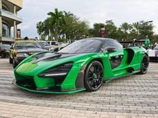 Không chỉ có Michael Fux, đại gia Mỹ này cũng sở hữu siêu phẩm McLaren Senna với bộ áo xanh lá độc đáo