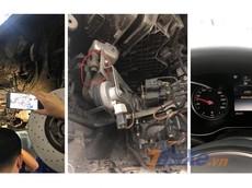 Người dùng phản ánh nước tràn vào cổ hút bơm hơi nâng hạ gầm Mercedes-Benz GLC khi lội nước quá 30 cm