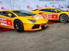 Trước chung kết AFF Cup 2018, dàn siêu xe 200 tỷ đồng của đại gia Việt đồng loạt lên sao vàng cổ vũ tuyển Việt Nam