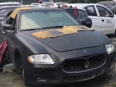 """Chủ quan để xe sang Maserati ở ngoài trời, đại gia """"tá hỏa"""" khi phát hiện xế cưng bị lột sạch phụ kiện"""