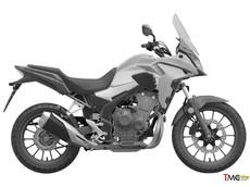 Hé lộ thiết kế bộ vỏ mới của xế phượt Honda CB500X 2019