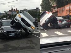 Nghi chồng chở nhân tình, vợ lái Volvo XC40 đuổi theo và gây tai nạn hi hữu