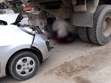 Hà Nội: Đang sửa gầm xe ben, thợ ô tô bị Kia Morning tông tử vong