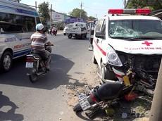 Xe cứu thương gây tai nạn tại An Giang khiến thai phụ mất con