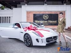 """""""Soi"""" chiếc xe thể thao hạng sang Jaguar F-Type mới của Á hậu Huyền My"""
