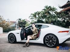 Á hậu Huyền My khoe dáng nuột bên Jaguar F-Type mới sắm