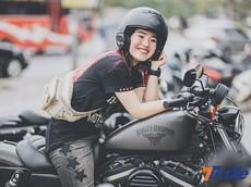 """Hiền """"Bư"""": Cô thợ làm da dễ thương với """"người tình"""" khác biệt, chiếc Harley-Davidson Iron 883"""