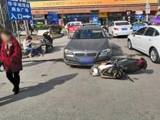 """Sau vụ tai nạn, người phụ nữ lái xe BMW và xe máy điện lao vào nhau """"hỗn chiến"""" kinh hoàng"""