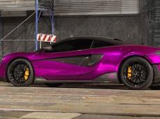 Đây là thành quả khi siêu xe McLaren 600LT kết hợp với màu tím bóng