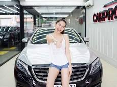 """""""Nữ hoàng đồ lót"""" Ngọc Trinh làm đẹp lại cho xe siêu sang Mercedes-Maybach S500 hơn 11 tỷ đồng"""