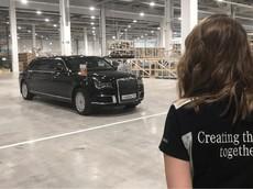 Tổng thống Nga đến dự lễ khánh thành nhà máy Mercedes-Benz bằng xe bọc thép Aurus Senat Limousine