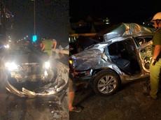 Thừa Thiên - Huế: Vượt ẩu, Toyota Vios đối đầu ô tô tải và biến dạng khó nhận ra