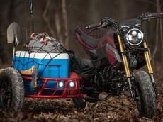 """""""Hết hồn"""" với Honda MSX 125 độ sidecar độc nhất vô nhị"""