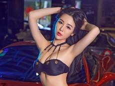 Người mẫu Vương Y Thần phô diễn thân thể diễm lệ bên siêu xe