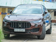 """Cận cảnh Maserati Levante """"thỏi sô cô la"""" độ mâm Lexani hàng độc của doanh nhân Sài thành"""