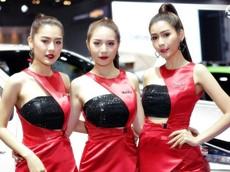 Các người mẫu xinh thế này là đặc trưng của triển lãm xe Thái Lan