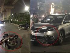 Hà Nội: Nam thanh niên chạy xe Honda Air Blade ngược chiều tông trực diện vào Honda CRV