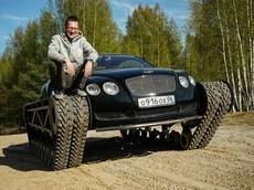 """Bái phục người Nga chế tạo Bentley Continental GT """"phiên bản xe tăng"""""""