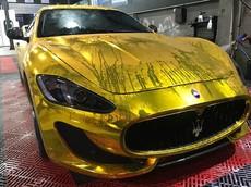 """Mới tậu xe Maserati GranTurismo MC Sportline 12 tỷ đồng, chủ nhân đã đem đi """"dát vàng"""""""