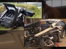 Khâm phục thợ máy người Nga cẩn thận sửa chữa siêu xe Lamborghini Gallardo bị đâm nát bét