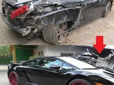 Siêu xe Lamborghini Gallardo bị đâm nát được sửa chữa như mới dưới bàn tay người Nga