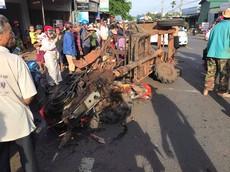 Đăk Lăk: Công nông gãy trục, ủi bay xe máy trên đường khiến nhiều người thương nặng