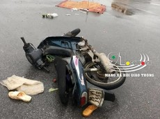 Hưng Yên: Xe máy va chạm với xe ben, vợ tử vong, chồng thoát chết