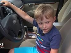 Kinh ngạc trước cậu bé 4 tuổi ăn trộm Hyundai Santa Fe của ông nội để đi... mua kẹo