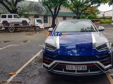 """Minh """"Nhựa"""" lái siêu SUV Lamborghini Urus hộ tống Mercedes-AMG G63 Edition 1 đi bấm biển số"""