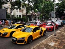 Dàn siêu xe Audi R8 hàng đỉnh của nhà giàu Việt tụ tập tại Sài thành