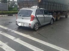 Bình Dương: Kia Morning rúc gầm ô tô tải, tài xế tử vong trong cabin