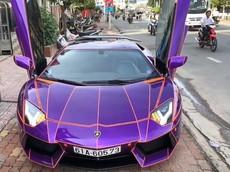 Siêu xe Lamborghini Aventador của doanh nhân trẻ tuổi Bình Dương thay áo Tron: Legacy