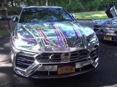 Ngắm bộ đôi Lamborghini Urus và Aventador SVJ bọc crôm toàn thân sáng chói cả mắt