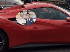"""Tròn 1 tuần đám cưới, Cường """"Đô-la"""" và vợ bị bắt gặp ngồi trên siêu xe Ferrari 488 Spider """"mới toanh"""""""