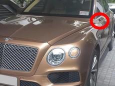 """Hà Nội: SUV siêu sang Bentley Bentayga hơn 23 tỷ đồng bị kẻ gian """"vặt gương"""""""