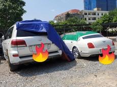 """Xe siêu sang Bentley và Lexus LX570 biển Hà Nội bị chủ """"bỏ rơi"""" ngoài bãi xe hơn nửa năm"""