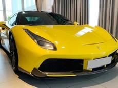 Siêu xe Ferrari 488 GTB màu vàng ở Hà Nội nâng cấp lên gói độ Novitec Rosso hơn trăm triệu đồng