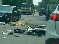 Hà Nội: Tông trực diện ô tô hạng sang Lexus, người đi xe máy tử vong tại chỗ