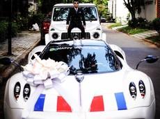"""Tranh thủ buổi rước dâu của con gái, Minh """"Nhựa"""" đem Pagani Huayra và Mercedes-AMG G63 Edition 1 ra """"sống ảo"""""""