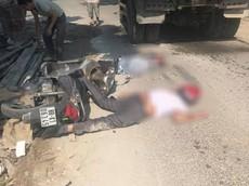 Vĩnh Phúc: Đâm vào đống phế liệu bên đường, 2 người đi xe máy bị ô tô tải cán tử vong
