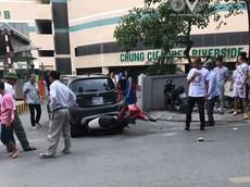 Lộ video nữ tài xế lái VinFast Fadil lùi trúng xe máy khiến nam thanh niên gãy chân tại Hà Nội