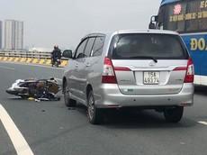 Hà Nội: Quay đầu chạy CSGT, nam thanh niên điều khiển Honda Lead đâm vào đầu xe Innova